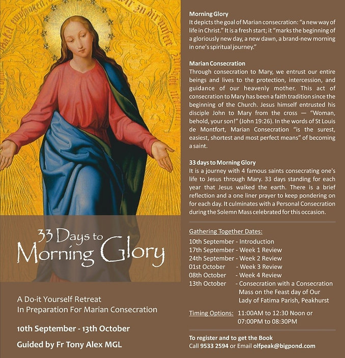 33 Days to Morning Glory 13-10-2020