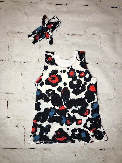 Leopard Print Pinafore Dress