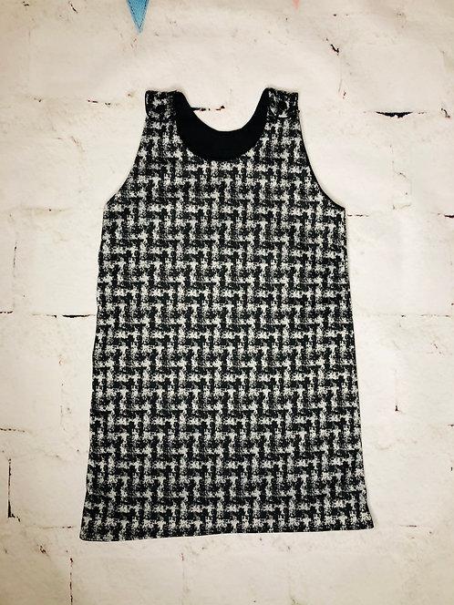 Dogtooth Pinafore Dress