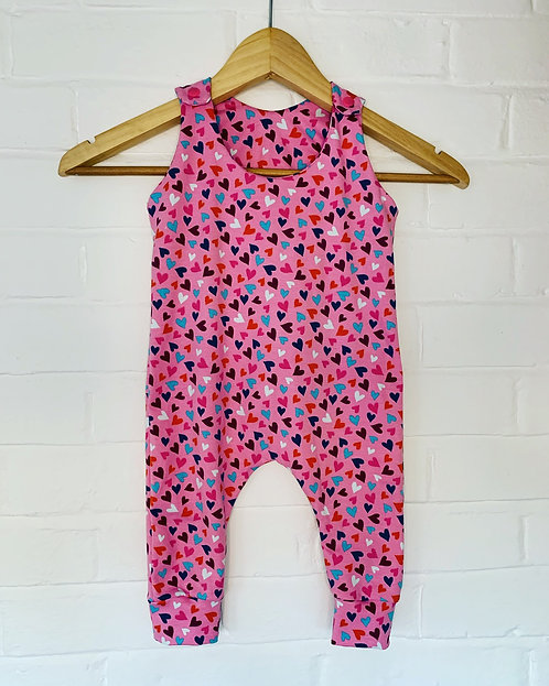 Pink With Hearts Romper