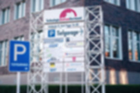 Panneau indiquant le parking souterrain des MotionMiners à Emil-Figge-Str. 80, Dortmund
