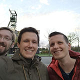 Sascha Feldhorst, Sascha Kaczmarek und Rene Grzeszick bei der Gründung der MotionMiners GmbH.