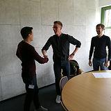 Einstellung der ersten beiden Vollzeit-Mitarbeiter Hauke und Maximilian bei den MotionMiners.