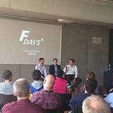 Sascha Feldhorst, Sascha Kaczmarek und Rene Grzeszick beim F-Days Fraunhofer Venture im Jahr 2016.