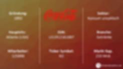 Aktienbewertung Coca Cola / Factsheet / Gründung / Hauptsitz / Branche / Sektor