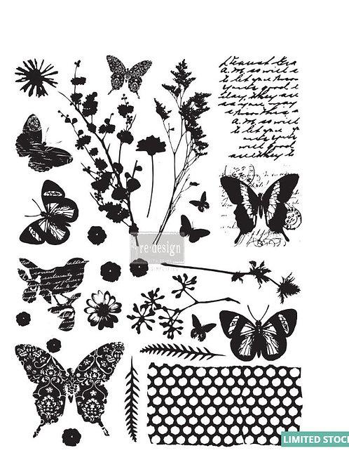"Papillon (18″ X 24"") Transfer"