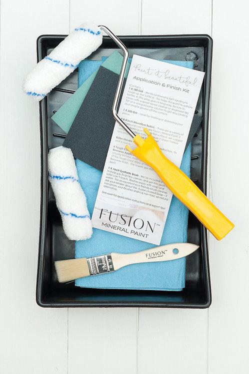 Paint Kit - (roller, brush, sand paper & pan)
