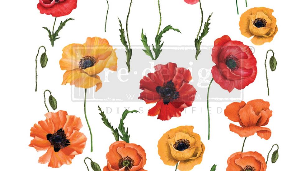 "Poppy Gardens (24"" x 30"") Transfer"