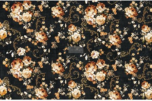 Dark Floral – (19″ X 30″) Decoupage Tissue Paper