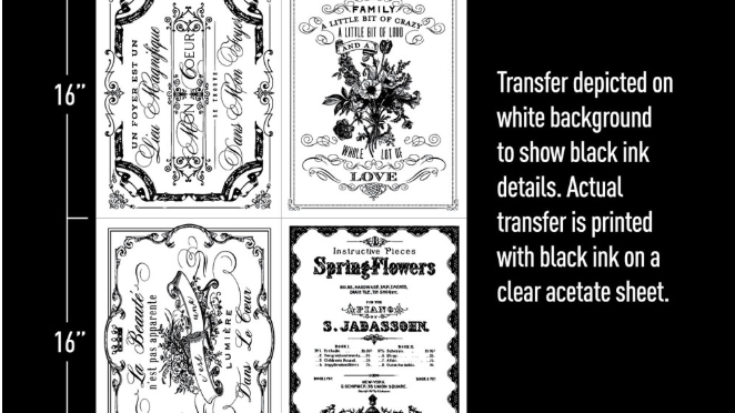 "Spring Flowers – (22″ X 30"") Transfer"