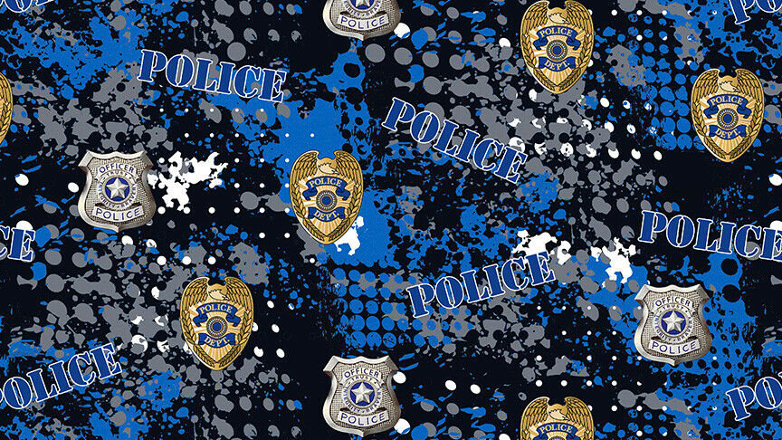 Police Badges Fabric Face Mask