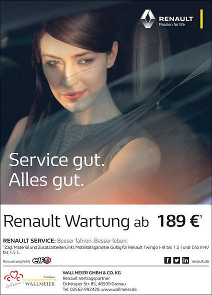 Renault Wartung. Inspektin Gebrauchtwagen. Gronau