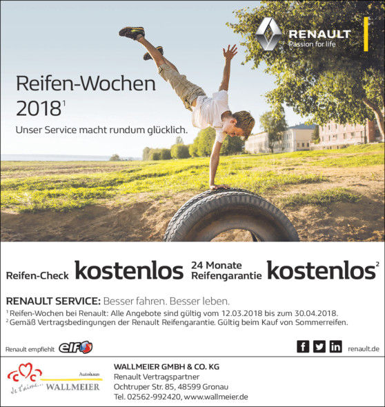 Inspektion Wartung Gronau Renault Gebrauchtwagen Neuwagen Marken