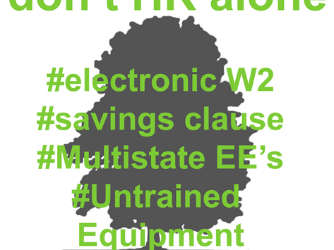 Don't HR Alone #19 - Electronic W2s, Savings Clause, Multistate employees, and Untrained Equipme
