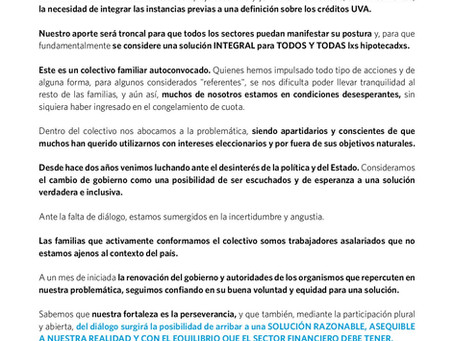 CARTA ABIERTA AL  PRESIDENTE  DR. ALBERTO FERNÁNDEZ