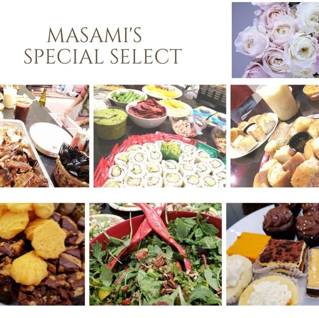 Masamiさんが普段食べている健康的なものばかり。数々のお店を回ってセレクトしてくれました。グルテンフリーの方のための対応もバッチリ。さすがの配慮です。