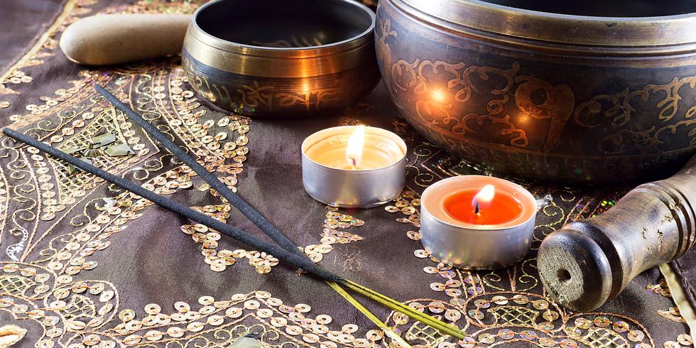 ONSITE MEDITATION! CELESTIAL BEINGS WITH TIBETAN SINGING BOWL MEDITATION (2)