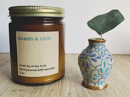 ocean & chill soy candle