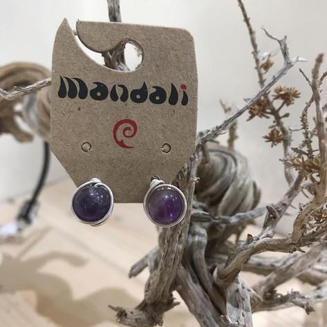 handmade earrings with stone