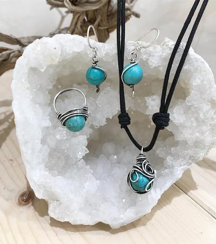 handmade earrings necklace ring