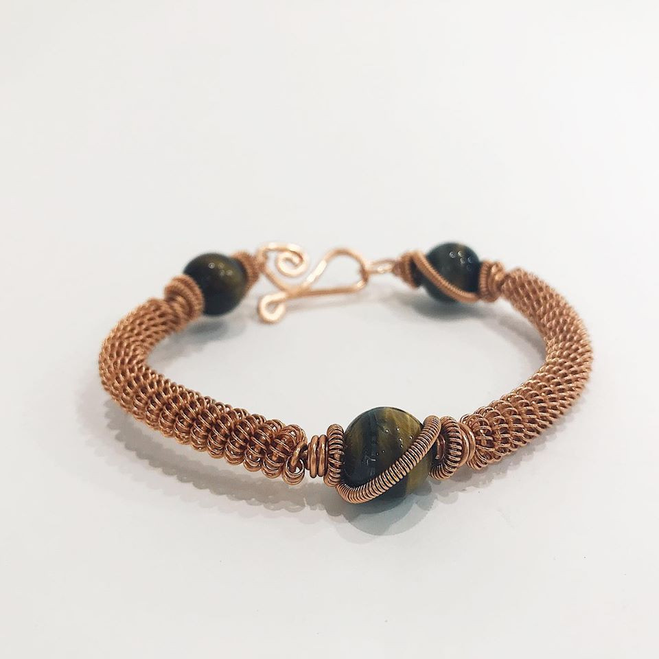 custom bracelet stone copper