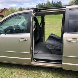 Vue avec sièges arrières