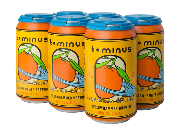 6-pack of Yellowhammer T-Minus Tangerine Kolsch