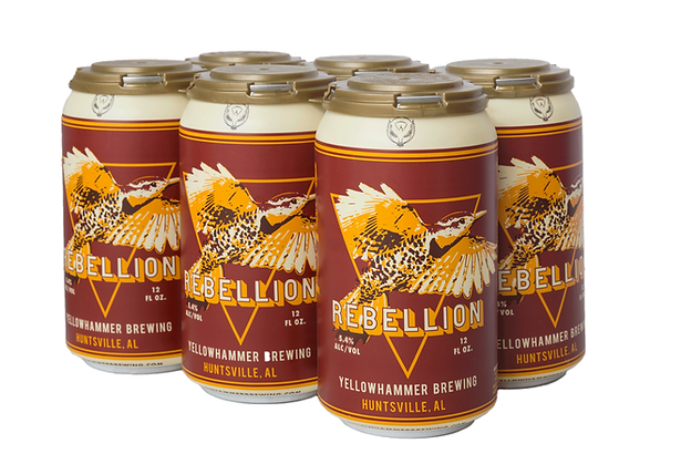 6-pack of Yellowhammer Rebellion Red Lager