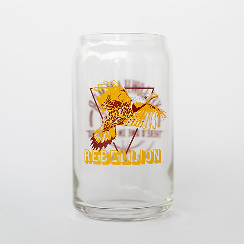 16oz Rebellion Red Glass Can