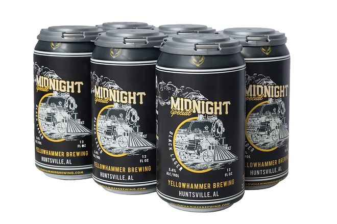 6-pack of Yellowhammer Midnight Special Black Lager