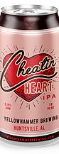 Yellowhammer Brewing Cheatin' Heart IPA Can