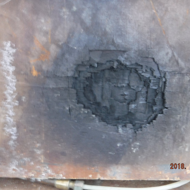Exhaust to close to sole board