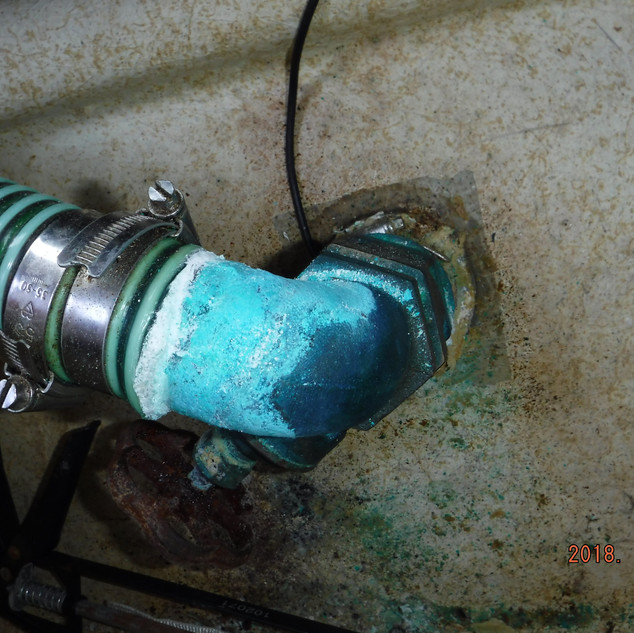 Gate valve suffering from Electrolysis