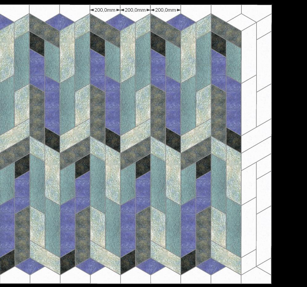 Фарфоровая плитка коллекции Art-Deco