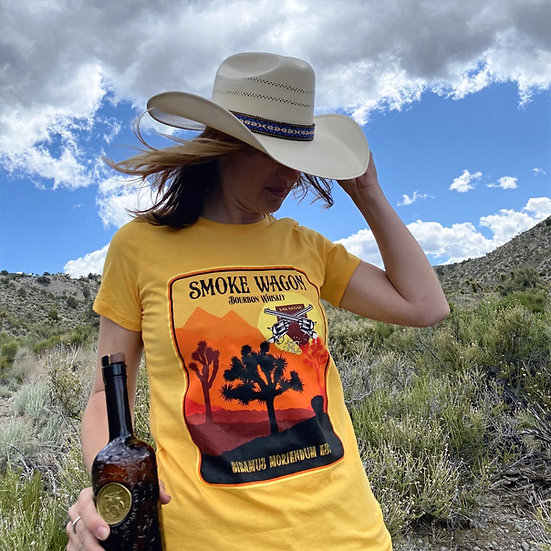 Ladies Retro Desert Sunset T