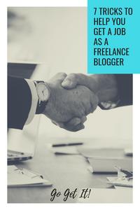 Get a job as a freelance blogger