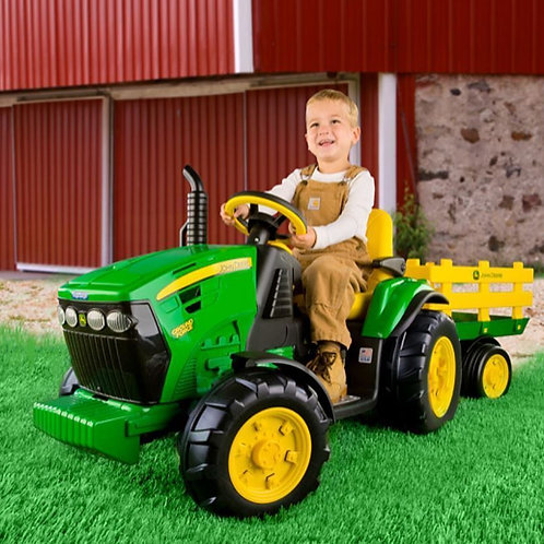 John Deere Ground Force Tractor & Trailer 12V (3 Years +)