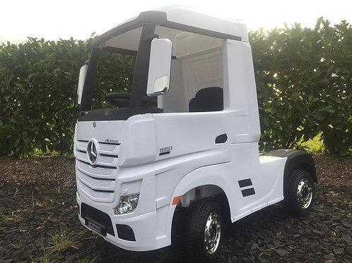 12v Actros Ride on Lorry - Mercedes Benz Licensed White