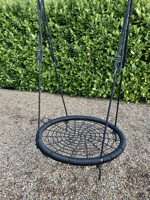 Nest Basket swing seat for climbing frame Black 95cm