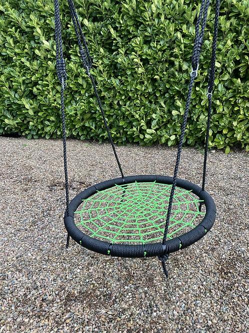 Nest basket swing seat for climbing frame Green 95cm