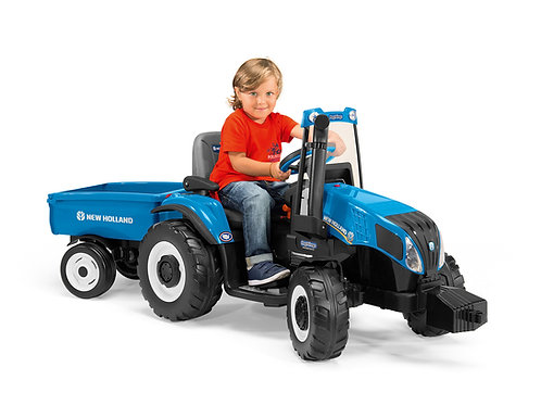 Peg Perego Licensed New Holland T8 Tractor And Trailer 12v Ride On