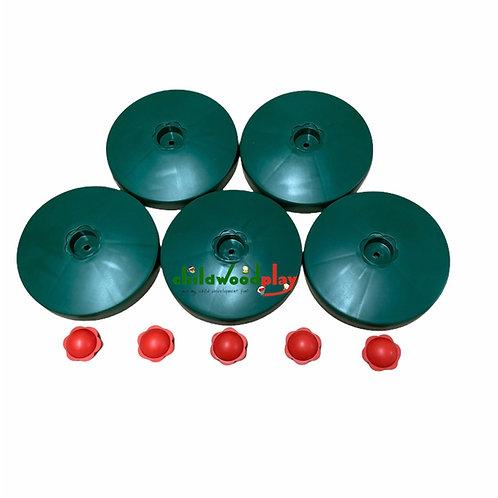 Round Post cap covers 125mm 5PK