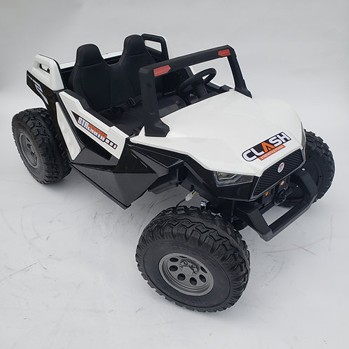 24v Clash XL Ride on Buggy - 4 Wheel Drive - White