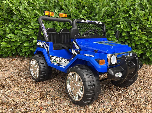 Drifter 12v 2 Seater 4x4 Ride on Jeep Truck Blue