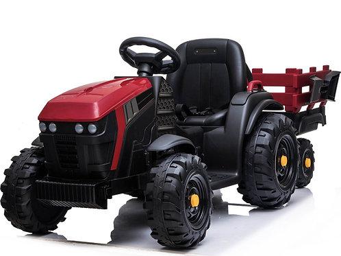 Red 12v Tractor & Trailer
