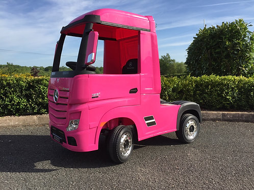 Licensed Mercedes-Benz Actros 4WD 24V* Ride On Lorry - Pink