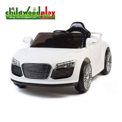 Audi Style 12v Kids Ride on Car with two speed and Remote - White