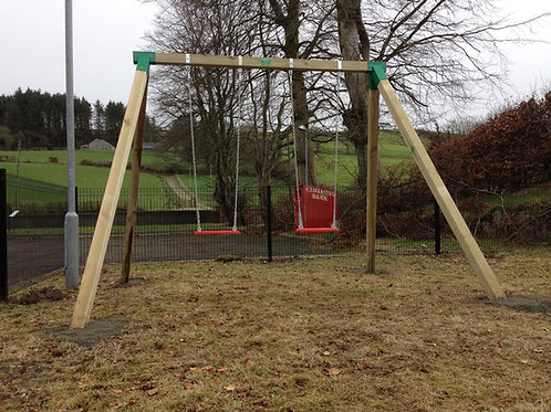 Double commercial Swing set