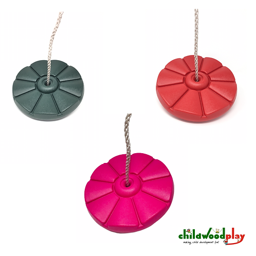 Kids swing Button / Disc / Flower seat