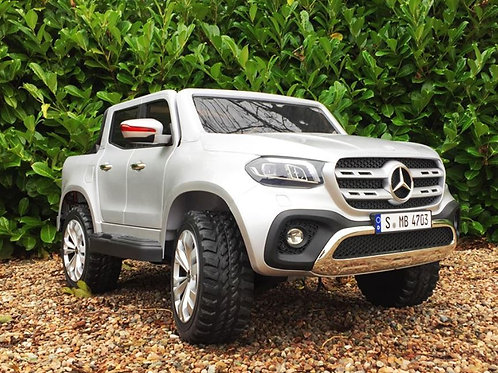 Mercedes Benz X-Class 24v Kids Electric Ride on Jeep 4WD Rubber Wheels - Silver